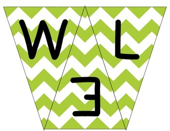 Welcome to 1st Grade Pennant- Lime Green Chevron