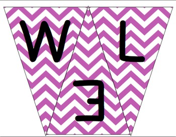 Welcome to 1st Grade Pennant- Purple Chevron