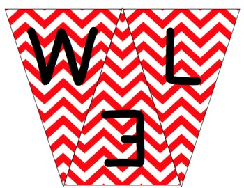 Welcome to 1st Grade Pennant- Red Chevron