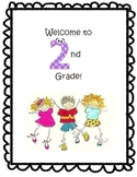 Welcome to 2nd Grade Back to School Booklet