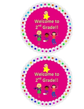 Welcome to 2nd Grade Back to School Label