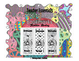Welcome to 2nd Grade Bookmarks- hand drawn DOODLES!