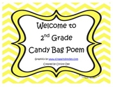 Welcome to 2nd Grade Candy Bag Poem
