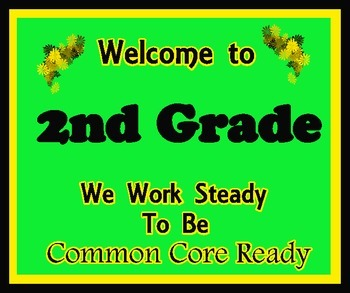 Welcome to 2nd Grade (Common Core)
