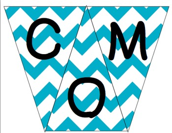 Welcome to 2nd Grade Pennant- Teal Chevron
