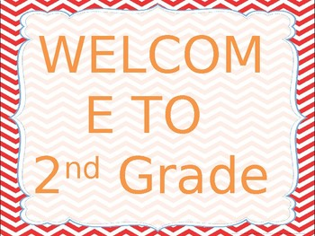 Welcome to 2nd Grade Power Point
