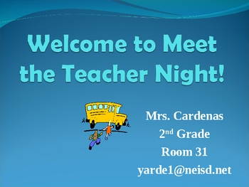 Welcome to 2nd Grade PowerPoint for Open House