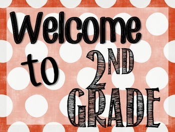 Welcome to 2nd Grade Signs