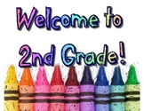 Welcome to 2nd Grade Wall Art Poster