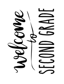 Welcome to 2nd Second Grade Sign or Poster w Frame Farmhouse & Rae Dunn Style