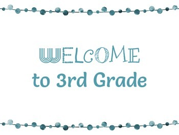 FREEBIE! Welcome to 3RD Grade Colored Posters
