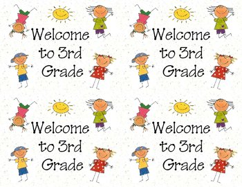 Welcome to 3rd Gr Postcards (printable)