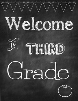 Image result for welcome to 3rd grade on chalkboard