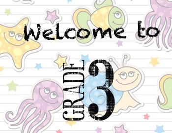 Welcome to 3rd Grade Door Sign