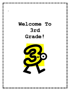 Welcome to 3rd Grade Back to School Activities