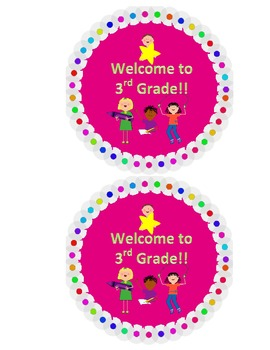 Welcome to 3rd Grade Back to School Label