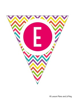 Welcome to 3rd Grade Banner - Bright Rainbow Chevron