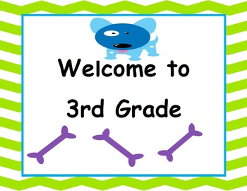 Welcome to 3rd Grade - Canine Cuties Classroom Decor