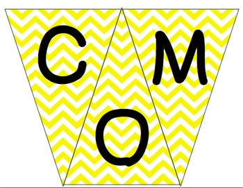 Welcome to 3rd Grade Pennant- Yellow Chevron