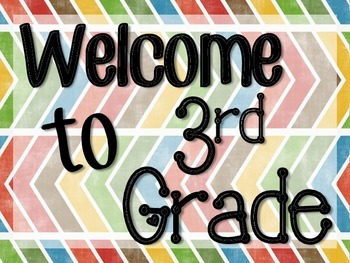 Welcome To 3rd Grade Poster & Worksheets | Teachers Pay Teachers
