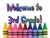 Welcome to 3rd Grade Wall Art Poster