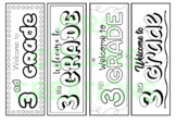 Welcome to 3rd grade coloring bookmarks