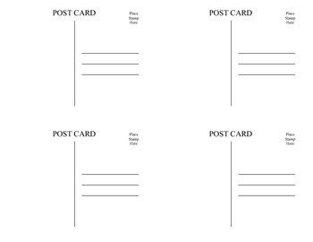Welcome to 4th Gr Printable Postcards
