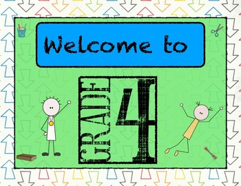 Welcome to 4th Grade Door Sign