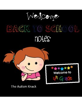 Welcome to 4th Grade Back to School Night Cards