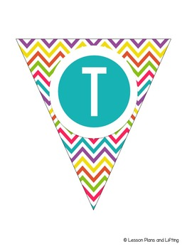 Welcome to 4th Grade Banner - Bright Rainbow Chevron