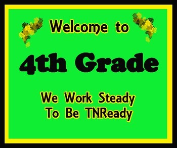 Welcome to 4th Grade (TNReady)