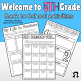 Welcome to 5th Grade Back to School