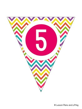 Welcome to 5th Grade Banner - Bright Rainbow Chevron
