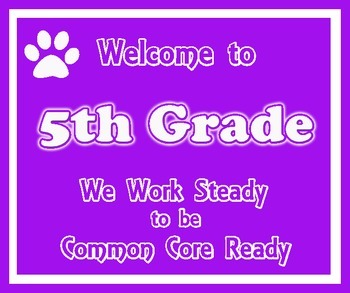 Welcome to 5th Grade (Common Core)