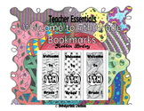 Welcome to 7th Grade Bookmarks- hand drawn DOODLES!