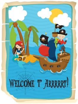 Welcome to Arrrrt! Pirate Themed Poster