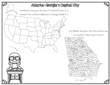 Welcome to Atlanta! Differentiated Reading Passages & Questions