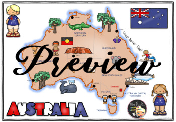 Australia Lapbook Flapbook and Map