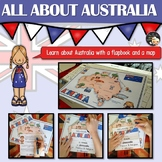 Australia Informational Text Flapbook and Map