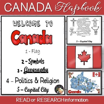 Welcome to Canada Flapbook - Canada Day