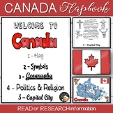 Canada Informational Text Flapbook and Map