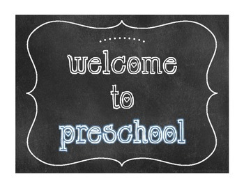 """""""Welcome to"""" Chalkboard Style Signs"""
