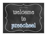 """Welcome to"" Chalkboard Style Signs"