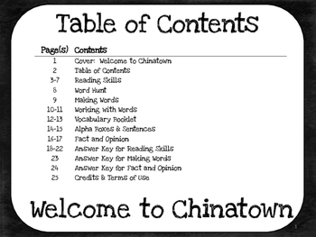 Welcome to Chinatown  4th Grade Harcourt Storytown Lesson 25