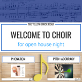 Welcome to Choir for Open House Night