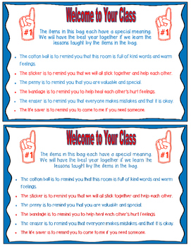 PDF Welcome to Class Bag Team Theme
