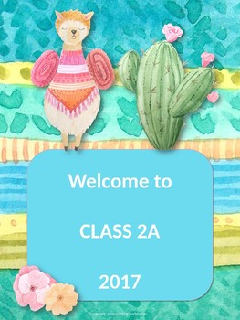 Welcome to Class Posters Editable
