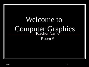 Welcome to Computer Graphics