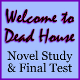 Welcome to Dead House Novel Study Worksheets (all chapters