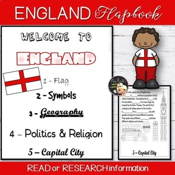 England Country Flapbook and Map
